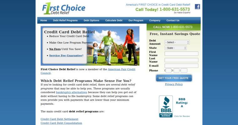 First choice debt relief best debt consolidation firms first choice debt relief home page reheart Choice Image